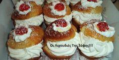 ΓΛΥΚΑ Archives - Page 4 of 18 - Igastronomie. Greek Sweets, Greek Desserts, Party Desserts, Greek Recipes, Sweets Recipes, Candy Recipes, Food Network Recipes, Food Processor Recipes, Greek Cake