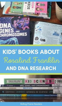 Did you learn about Rosalind Franklin in school? These children's books will help you learn more about her role in discovering DNA! Science Fair Projects, Science Experiments, Stem Activities, Activities For Kids, Biology For Kids, Dna Research, Homeschool Science Curriculum, Biology Lessons, How To Start Homeschooling