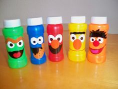 SESAME STREET BIRTHDAY party favor bubbles set by BeyondBalloons, $10.00