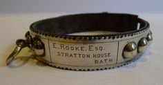 Antique English Nickel Dog Collar ca.1880