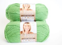Lion Brand Vanna's Choice Yarn in Fern by PenandHook on Etsy