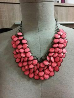 Neonovy nahrdelnik H Beaded Necklace, Neon, Jewelry, Beaded Collar, Jewlery, Pearl Necklace, Jewerly, Schmuck, Beaded Necklaces