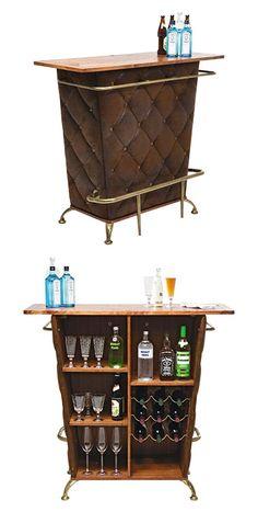 Bar braun, Lederlook Liquor Cabinet, Storage, Furniture, Home Decor, Home Decor Accessories, Oak Tree, Glass, Colors, Homes