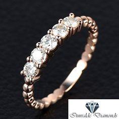 475.30$  Buy here - http://vibfo.justgood.pw/vig/item.php?t=24uk3ta2539 - 14k Five Stone Moissanite Bubble Set Wedding Band 475.30$