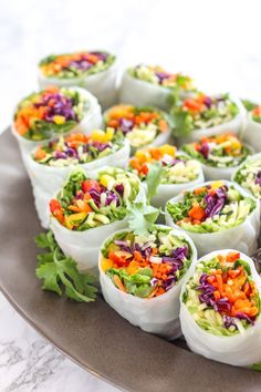 Loaded Veggie Summer Rolls with Cashew Tahini Dip - vegan + gluten free || Eat Spin Run Repeat