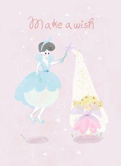 fairy godmother, hada madrina, greeting card, birthday card, ilustración, laura gomez
