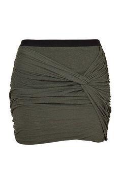 Khaki Draped Cotton Skirt by IRO   Luxury fashion online   STYLEBOP.com