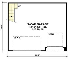 1000 images about garage on pinterest shipping for 3 car garage plans with bonus room