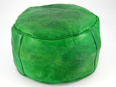 Green leather seat from Morocco http://www.etnobazar.pl/shop/etnoswiat/profile/search/ca:pufy