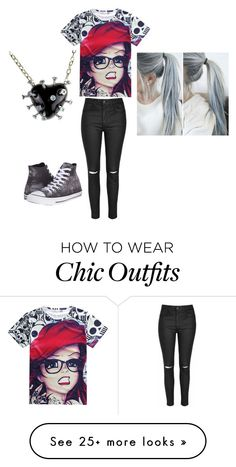 """outfit"" by heythereimpeacegirl23 on Polyvore featuring Glamorous and Converse"