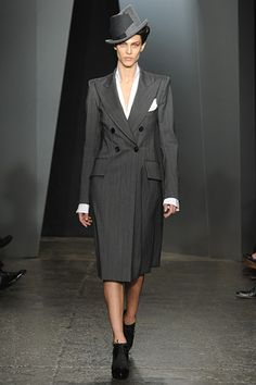 Donna Karan-single breasted coat are always a perfect fit for Cs, Ds & Double Ds! #NYFW