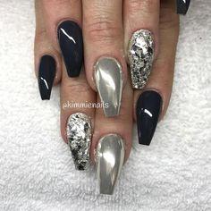 Asphalt grey (gelpolish) chrome