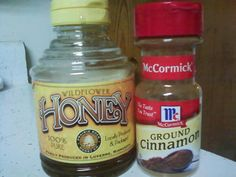 Great information!! Cinnamon and Honey...!Drug companies won't like this one getting around. Facts on Honey and Cinnamon: It is found that a mix of honey and cinnamon cures most diseases. Honey is produced in most of the countries of the world. Scientists of today also note honey as very effective medicine for all kinds of diseases. Honey can be used without side effects which is also a plus.Today's science says that even though honey is sweet, when it is taken in the right dosage as a medicine, it does not harm even diabetic patients. Researched by western scientists:  HEART DISEASES: Make a paste of honey and cinnamon powder, put it on toast instead of jelly and jam and eat it regularly for breakfast. It reduces the cholesterol and could potentially save one from heart attack. Also, even if you have already had an attack studies show you could be kept miles away from the next attack. Regular use of cinnamon honey strengthens the heart beat. In America and Canada, various nursing homes have treated patients successfully and have found that as one ages the arteries and veins lose their flexibility and get clogged; honey and cinnamon revitalize the arteries and the veins.  ARTHRITIS: Arthritis patients can benefit by taking one cup of hot water with two tablespoons of honey and one small teaspoon of cinnamon powder. When taken daily even chronic arthritis can be cured. In a recent research conducted at the Copenhagen University, it was found that when the doctors treated their patients with a mixture of one tablespoon Honey and half teaspoon Cinnamon powder before breakfast, they found that within a week (out of the 200 people so treated) practically 73 patients were totally relieved of pain -- and within a month, most all the patients who could not walk or move around because of arthritis now started walking without pain.  BLADDER INFECTIONS: Take two tablespoons of cinnamon powder and one teaspoon of honey in a glass of lukewarm water and drink it. It destroys the 