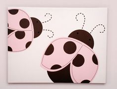Ladybugs done on canvas but oh so cute, I might do it on a plate :-)