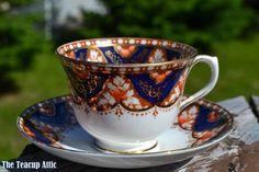Royal Albert Crown China Imari Inspired Teacup And Saucer Set, ca. 1927-1935