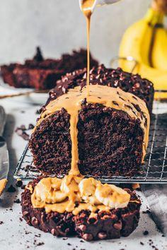 The Best Vegan Chocolate Banana Bread - Bi . - The best vegan chocolate banana bread - Banana Com Chocolate, Best Vegan Chocolate, Chocolate Recipes, Chocolate Cake, Chocolate Cream, Banana Bread Recipes, Easy Cake Recipes, Cookie Recipes, Dessert Recipes