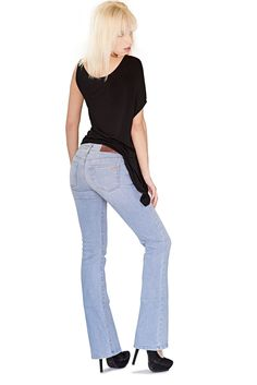 Bullet Blues Bombshell designer jeans and Lucille top made in USA www.bulletbluesca.com #FreeShipping #madeinUSA #designerclothing #Bombshelljeans