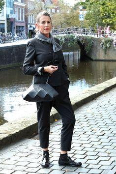 Maria on the streets of Leeuwarden