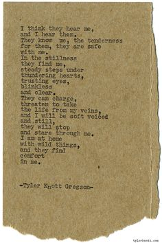 Typewriter Series #1145 by Tyler Knott Gregson*Chasers of the Light, is available through Amazon, Barnes and Noble, IndieBound , Books-A-Million , Paper Source or Anthropologie *