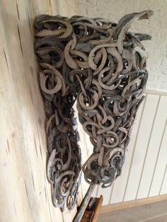 #Horse #moniquefalizevanree #art paard van houtkrullen op hout.79x73.5cm.