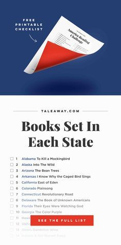 America Reading Challenge Books Set In Each State Books To Read