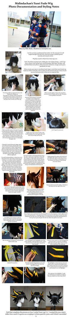 Yusei Fudo Wig tutorial v2 by *Malindachan on deviantART