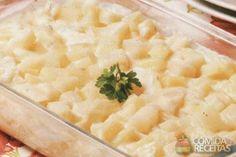 Receita de Batata com requeijão - Comida e Receitas microondas