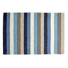 Blue Stripe Rug  | The Land of Nod