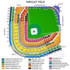 Wrigley field seating chart concert wrigley field concert seating
