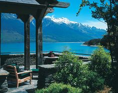 New Zealand, Australia + Pacific: A Lodge Suite balcony at Blanket Bay Lodge (area from Top of the Lake)