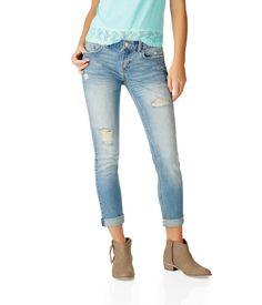 Boyfriend Destroyed Light Wash Jean from Aeropostale #boyfriend #jeans #boyfriendjeans #denim #cute #blue #lightwash #style #fashion #aero #Aeropostale