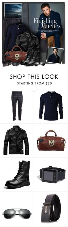 """Chris Evans"" by petri5 ❤ liked on Polyvore featuring Dondup, Ghurka, 21 Men, men's fashion and menswear"