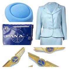 Work-Appropriate Halloween Costume with Tahari Pale Blue Grosgrain, Pillbox Hat, And Blue Pan Am Travel Bag Work Appropriate Halloween Costumes, Pillbox Hat, Travel Bag, Grosgrain, Hats, Blue, Fashion, Moda, Hat