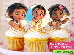 Moana Cupcake toppers/ BABY Moana Printables/ Moana Cake Toppers/ Instant Download/ You Print 60% OFF Sale by ANNILORACK on Etsy