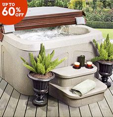 found it at wayfair lifesmart rock solid simplicity plug and play spa jets includes free energy savings value u0026 performance package - Wayfair Hot Tub