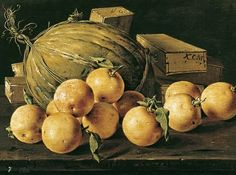 Meléndez, Still Life with Oranges and Melon