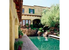 Spanish Colonial courtyard pool
