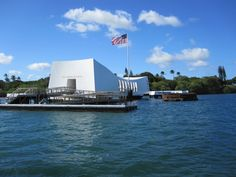 Ticket for the boat that takes you to the USS Arizona Memorial are free, but they are given out on a first come first serve basis. Get to the visitor center early to guarantee your spot. Waikiki Beach, Honolulu Hawaii, Maui, Cool Places To Visit, Places To Travel, Places To Go, Pearl Harbor Visitor Center, Uss Arizona Memorial, All I Ever Wanted