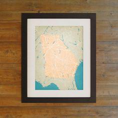 Georgia   City Prints Map Art