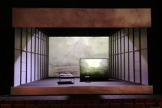 Le moine noir. National Arts Centre Theatre. Scenic design by Denis Marleau. 2004