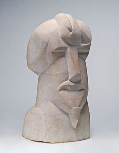 Henry Gaudier-Brzeska, Hieratic Head of Ezra Pound, 1914, marble