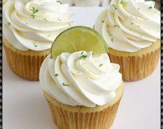 monogram and margarita cupcakes | Popular items for margaritas