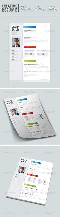 Personal Resume Folder Unique resume, Timeline and Modern resume - size font for resume