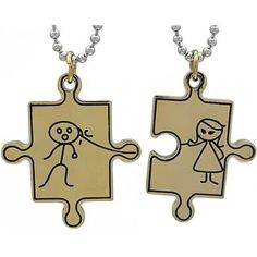 Kalung Couple Gold BoyGirl Personalized Items, Couples, Gold, Couple, Yellow