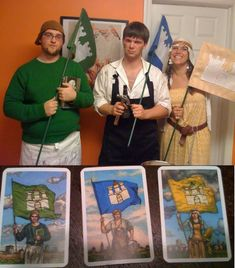 Settlers of Catan costume. Nerds. :)