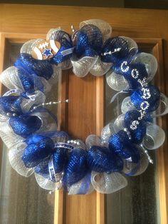 Dallas cowboy mesh wreath