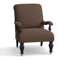 Harlan Upholstered Slipper Chair, Polyester Wrapped Cushions, Vintage Velvet Cafe