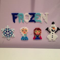 Disney Frozen perler bead Christmas Ornament set with Elsa, Anna, Olaf & more