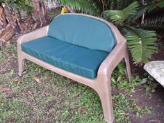 Double seat fibreglass bench with cushions as an optional extra. Wendy House, Jungle Gym, Cool Designs, Bench, Cushions, Chair, Fun, Furniture, Home Decor