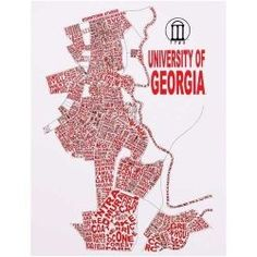 Georgia Bulldogs Campus Word Cloud 11'' x 14'' Art Print
